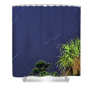 Star Trails Shower Curtain