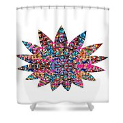 Star Ufo U.f.o. Sprinkled Crystal Stone Graphic Decorations Navinjoshi  Rights Managed Images Graphi Shower Curtain