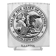 State Seal Illinois Shower Curtain