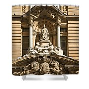 Statue Of Queen Victoria At Town Hall Of Sydney Australia Shower Curtain