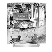 Steam Carriage, 1832 Shower Curtain