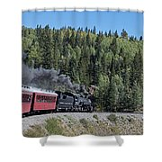 Steam Engine 488 At Osier On The Cumbres And Toltec Scenic Railroad Shower Curtain