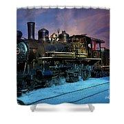 Steam Engine Nevada Northern Shower Curtain