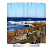 Steps To The Sea Shower Curtain by Barbara Snyder