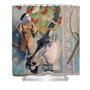 Still Life With Horse's Head Shower Curtain