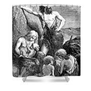Stone Age Family Shower Curtain