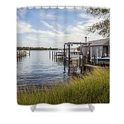 Stoney Creek Marina Shower Curtain