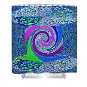 Stool Pie Chart Twirl Tornado Colorful Blue Sparkle Artistic Digital Navinjoshi Artist Created Image Shower Curtain