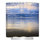 Storm Clouds And Lake Winnipeg At Shower Curtain