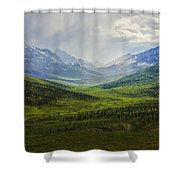 Storm Clouds Over The Klondike Valley Shower Curtain