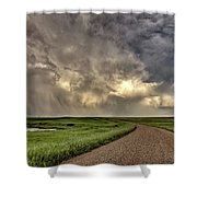 Storm Clouds Prairie Sky Saskatchewan Shower Curtain