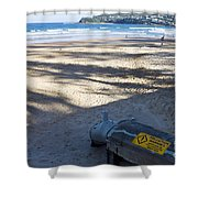 Storm Drainage Pipe On Manly Beach Shower Curtain