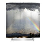 Storm Over The Organ Mountains Shower Curtain