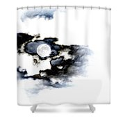 Stormy Moon Shower Curtain