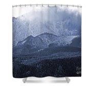 Stormy Peak Shower Curtain