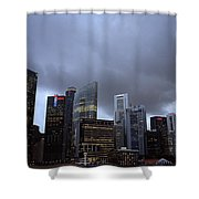Stormy Singapore Shower Curtain