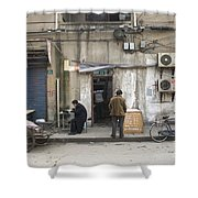 Street Food Stall In Shanghai China Shower Curtain