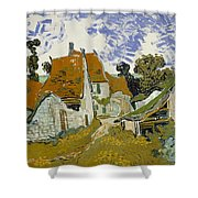 Street In Auvers-sur-oise Shower Curtain