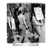 Strippers On Strike Shower Curtain