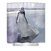 Strolling In Paradise Shower Curtain