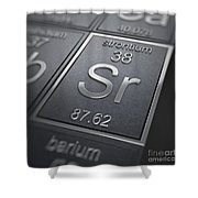 Strontium Chemical Element Shower Curtain