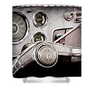 Studebaker Steering Wheel Emblem Shower Curtain