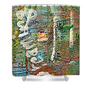 Studio Wall Series Untitled Shower Curtain