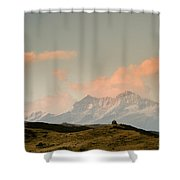 Stupas And The Himalayas Shower Curtain
