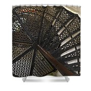 Sturgeon Point Lighthouse Spiral Staircase Shower Curtain