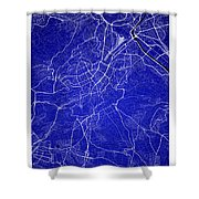 Stuttgart Street Map - Stuttgart Germany Road Map Art On Colored Shower Curtain