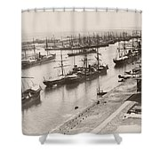 Suez Canal Port Said Shower Curtain