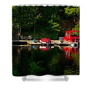 Summer Morning On Muskoka River Shower Curtain