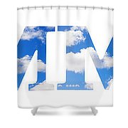Summer Reflected Shower Curtain