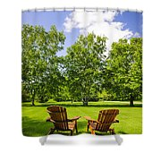 Summer Relaxing Shower Curtain by Elena Elisseeva