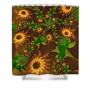 Summer's Last Sunflowers Shower Curtain