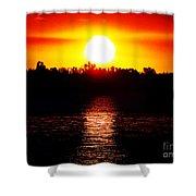 Sun 3 Shower Curtain