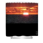 Sun Over Sea  Shower Curtain