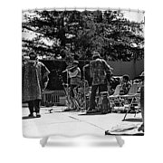 Sun Ra Arkestra Uc Davis Quad 2 Shower Curtain by Lee  Santa