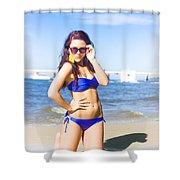 Sun Sand And Sea Leisure Shower Curtain