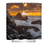 Sun Sets On Patrick's Point Shower Curtain