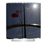 Sundial Silhouette  Shower Curtain