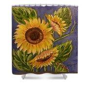 Sunflower Burst 1 Shower Curtain