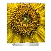 Sunflower In Oil Paint Shower Curtain