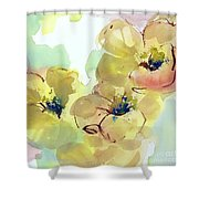 Sunlit Poppies I Shower Curtain