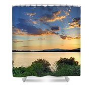 Sunrays At The Lake Shower Curtain