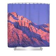 Sunrise At 14,494 Feet, Mount Whitney Shower Curtain