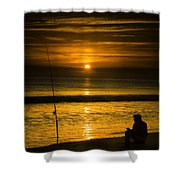 Sunrise Fishing Shower Curtain