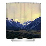Sunrise On Aoraki Mount Cook In New Zealand Shower Curtain