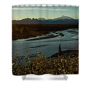 Sunrise On Mnt Denali, Trapper Creek Shower Curtain