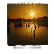 Sunrise On The Bon Secour River Shower Curtain